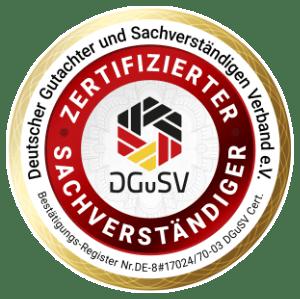 DGuSV Siegel geprüfter Gutachter und Sachverständiger